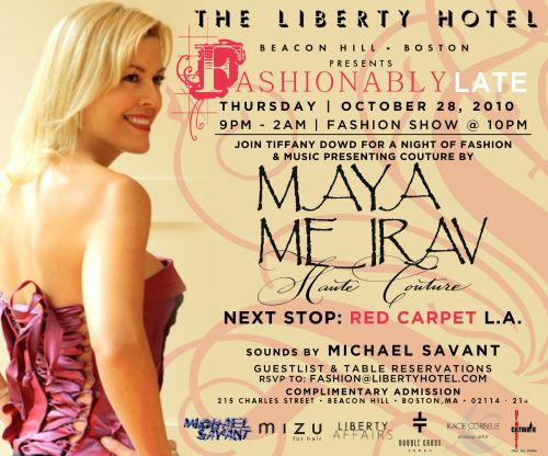 Fashionably Late with Tiffany Dowd featuring Maya Meirav Haute Couture