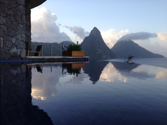 Reflections at Jade Mountain