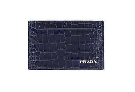Prada Crocodile Credit Card Holder