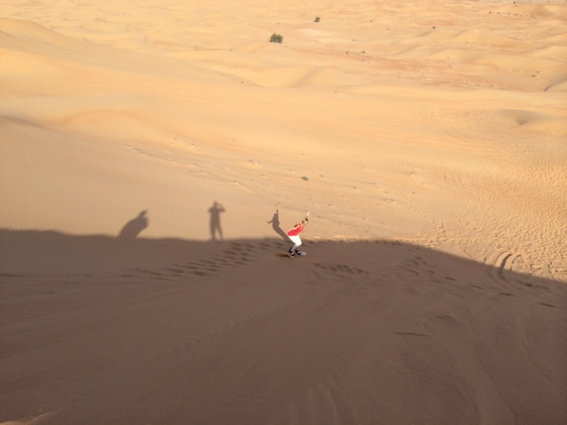 Sand Boarding - I didn't fall once!