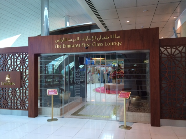 Emirates First Class Lounge in Dubai